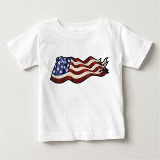 American Flag Waving Toddler Baby T-Shirt