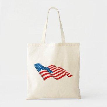 American Flag waving Tote Bag