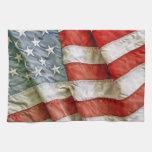 American Flag Waving Towel