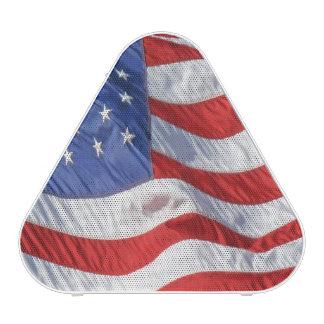 American Flag Waving Wind Patriotic USA Bluetooth Speaker