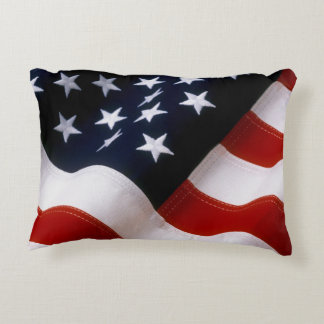 American flag wavy accent pillow