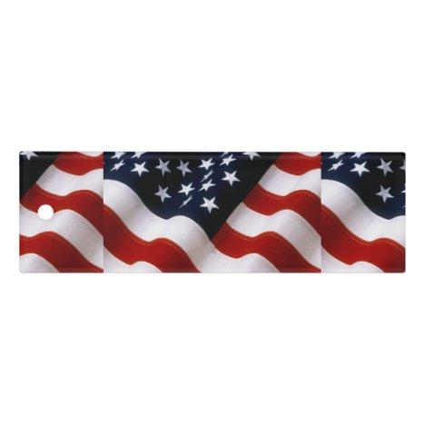 American flag wavy ruler