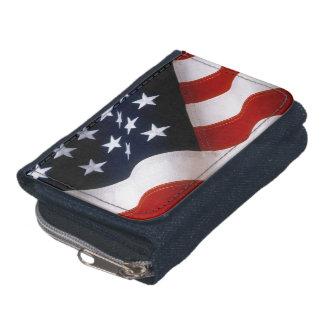 American flag wavy wallet