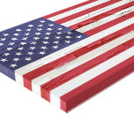 American Flag Weathered Paint Canvas Print