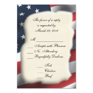 American Flag Wedding 2 Menu RSVP
