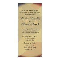 American Flag Wedding 4x9.25 Paper Invitation Card