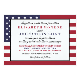 American Flag Wedding Card