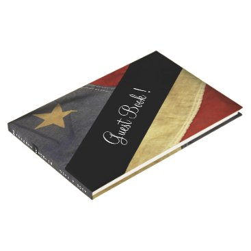 USA Themed American Flag Wedding Guest Book