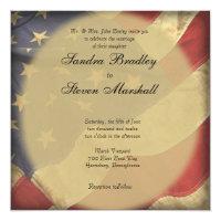 American Flag Wedding Invitations