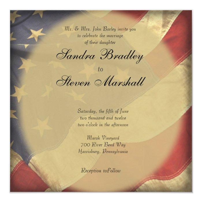 American Wedding Invitations: American Flag Wedding Invitations