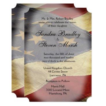 fancyhouse American Flag Wedding Invitations