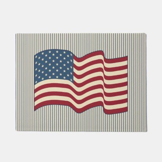 American Flag Welcome Mat Doormat Rug Gift