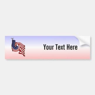 American Flag Whirlwind Flow Bumper Sticker