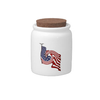 American Flag Whirlwind Flow Candy Jar