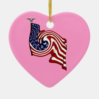 American Flag Whirlwind Flow Hanging Ornament