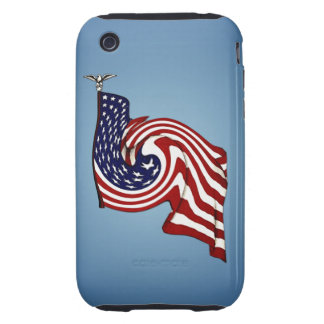 American Flag Whirlwind Flow iPhone 3G/3GS Tough Tough iPhone 3 Covers