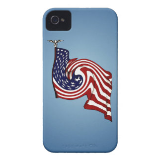 American Flag Whirlwind Flow iPhone 4/4S Case iPhone 4 Case-Mate Case