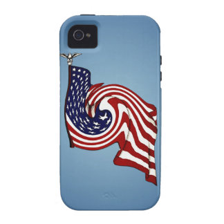 American Flag Whirlwind Flow iPhone 4/4S Tough iPhone 4/4S Case