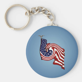 American Flag Whirlwind Flow Keychain