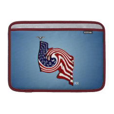 American Flag Whirlwind Flow Macbook Air 11