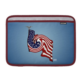 """American Flag Whirlwind Flow Macbook Air 11"""" MacBook Air Sleeve"""