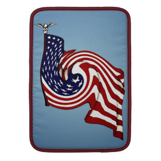 "American Flag Whirlwind Flow Macbook Air 13"" V Sleeve For MacBook Air"