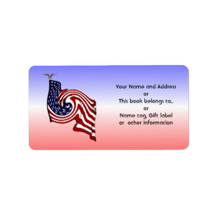 American Flag Whirlwind Flow Name Address Labels at Zazzle