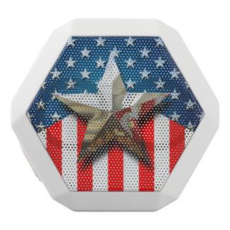 American Flag White Bluetooth Speaker