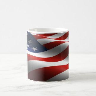 American Flag White Coffee Mug