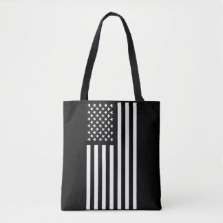 American Flag White Tote Bag
