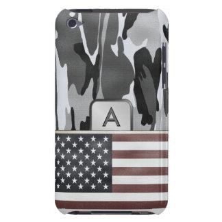 American Flag Winter Camo MonoGram iPod Case-Mate Case