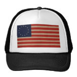 American Flag with 13 Stars - Betsy Ross Design Mesh Hats