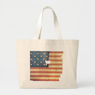 American Flag with 15 Stars - Star Spangled Banner Large Tote Bag