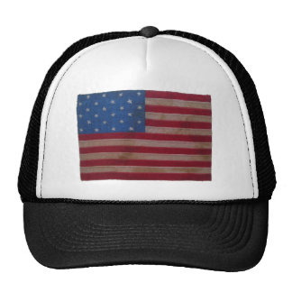 American Flag with 24 Stars Trucker Hat