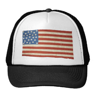 American Flag with 25 Stars Trucker Hat