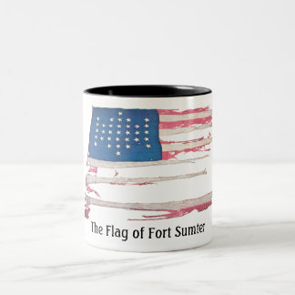 American Flag with 33 Stars - Fort Sumter Coffee Mugs