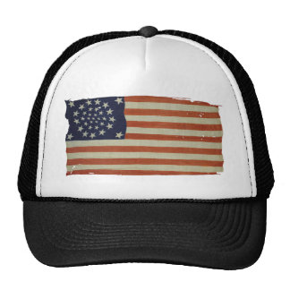 American Flag with 34 Stars Trucker Hat