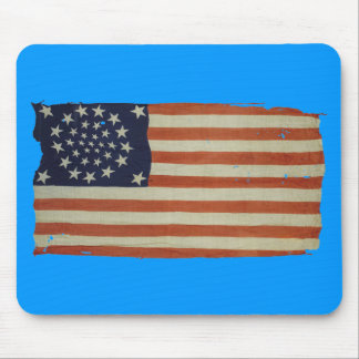 American Flag with 34 Stars Mouse Mat