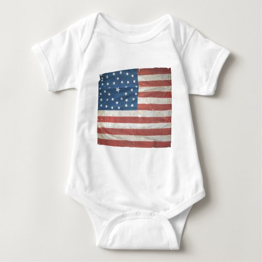 American Flag with 37 Stars Baby Bodysuit