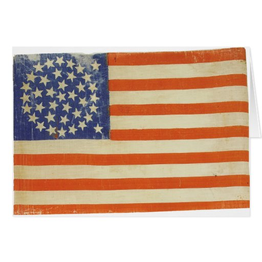 American Flag with 38 Stars Card