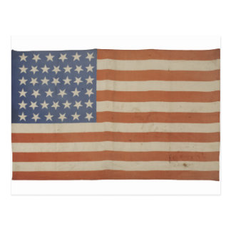 American Flag with 39 Stars Postcard