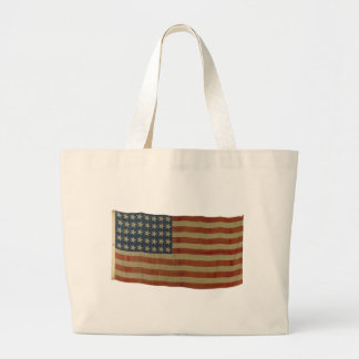American Flag with 40 Stars Canvas Bags