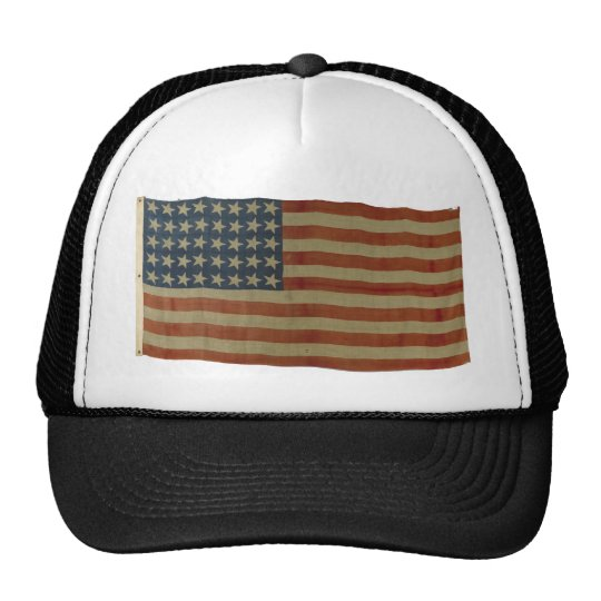 American Flag with 40 Stars Trucker Hat