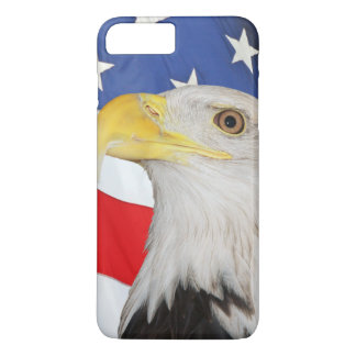 American Flag With American Bald Eagle iPhone 8 Plus/7 Plus Case