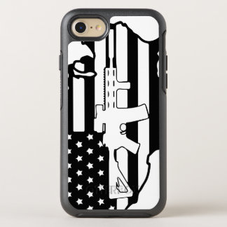 American Flag with AR gun otterbox OtterBox Symmetry iPhone 8/7 Case