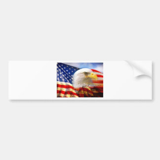 American Flag with Bald Eagle Bumper Sticker