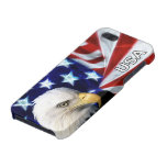 American Flag with Bald Eagle Covers For iPhone 5