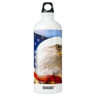 American Flag with Bald Eagle liberty bottle