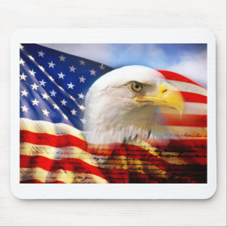 American Flag with Bald Eagle Mouse Pad