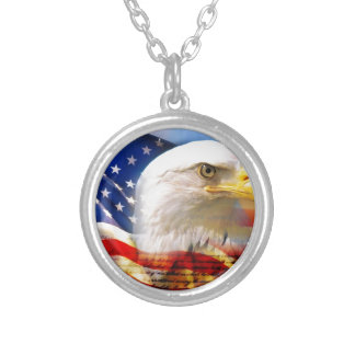 American Flag with Bald Eagle Necklace